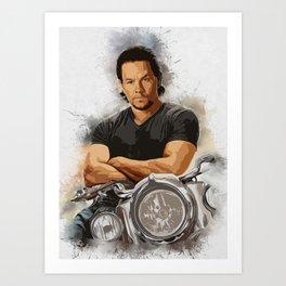 Mark Wahlberg Portrait Art Print