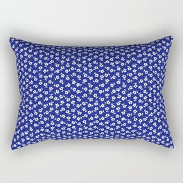 Forget Me Nots - White on Blue Rectangular Pillow