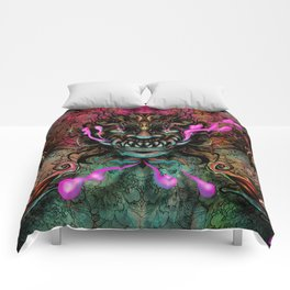 Japanese Dragon Mask Comforters