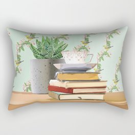 Tea and book love Rectangular Pillow