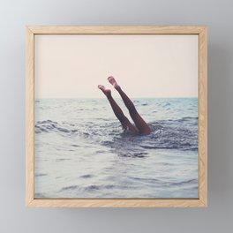 Summer Handstand Framed Mini Art Print