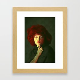 The red hat Framed Art Print
