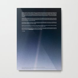 Pale Blue Dot — Voyager 1 (2020 rev.), quote Metal Print