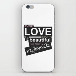 Love story iPhone Skin