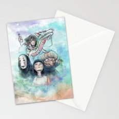 Spirited Away Watercolor Painting Stationery Cards