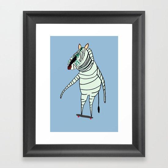 Zebra Dude Framed Art Print