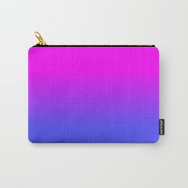 Neon Blue and Hot Pink Ombré Shade Color Fade Carry-All Pouch