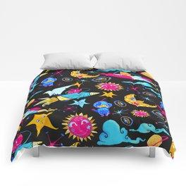 Orbital - Pink | Blue | Yellow Comforters