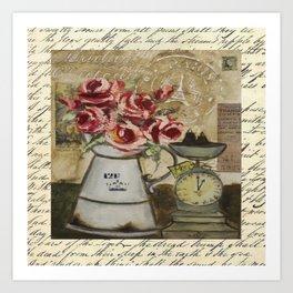 flowers & scale Art Print