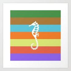 sea side story: seahorse   Art Print