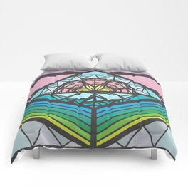 The Square of a Sunset Comforters