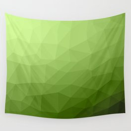 Greenery ombre gradient geometric mesh Wall Tapestry