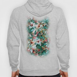 Seamless Floral And Paisley Pattern Hoody