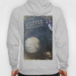 Men walk on Moon Astronauts Hoody