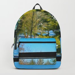 The Library Winter Window Backpack