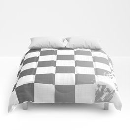 Chequered Flag Grunge Comforters