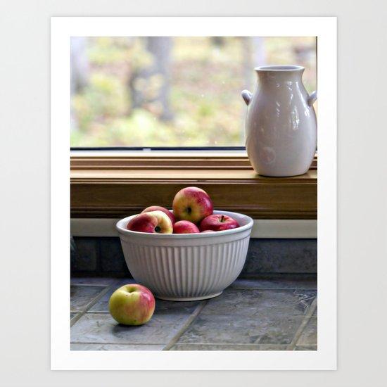 Apples in a Bowl Art Print