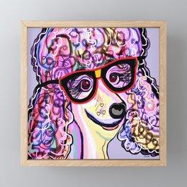 Hipster Poodle Framed Mini Art Print
