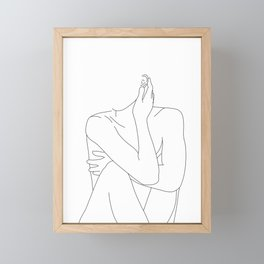 Nude life drawing figure - Celina Framed Mini Art Print