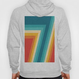 Colorful Retro Stripes  - 70s, 80s Abstract Design Hoody