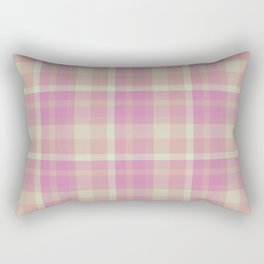 Strawberry Promenade Twill Plaid Rectangular Pillow