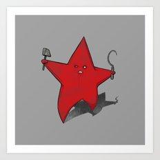 Zombie Star Art Print