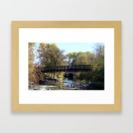 Bridge Over Calm River Photo Framed Art Print