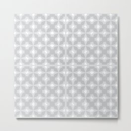 Abstract arrowhead light grey colour pattern  Metal Print