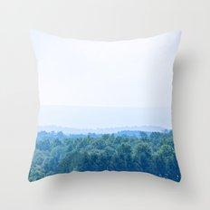 Mountain Blues Throw Pillow