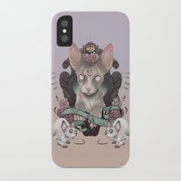 sphynx iPhone & iPod Cases featuring Sphynx by AlchemyArt