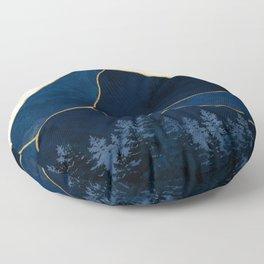 Mt Hood Sapphire Blue Wilderness Floor Pillow