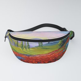 The castle on the mountain Fanny Pack
