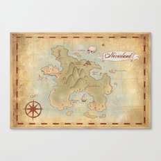 Map of Neverland Canvas Print