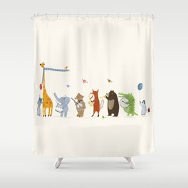 little parade Shower Curtain