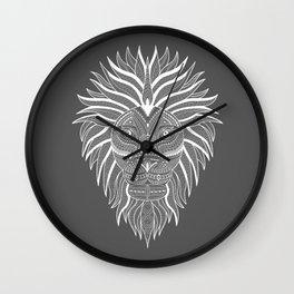 Lion Bee Manuality Grey Wall Clock