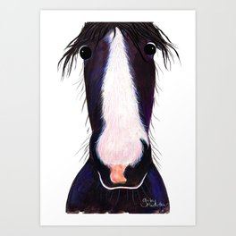 HoRSe PRiNT, ANiMaL PRiNT ' ANDY ' BY SHiRLeY MacARTHuR Art Print