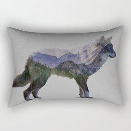 The Rocky Mountain Gray Wolf Rectangular Pillow