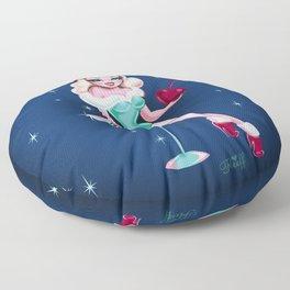 Cherry Holiday Martini Girl Floor Pillow