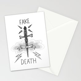 Fake Your Death Stationery Cards