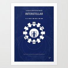 No532 My Interstellar minimal movie poster Art Print