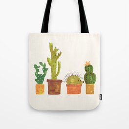Hedgehog and Cactus (incognito) Tote Bag
