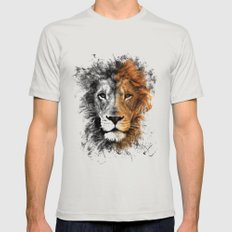 Lion Mens Fitted Tee Silver MEDIUM