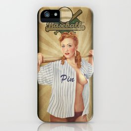 VINTAGE GIRLS - Baseball iPhone Case