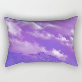 2493 Ultra_Violet Storm Over Flat_Top Rectangular Pillow