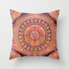 Mango Mandala Throw Pillow