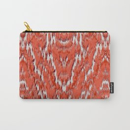 big diamond ikat in vermilion Carry-All Pouch