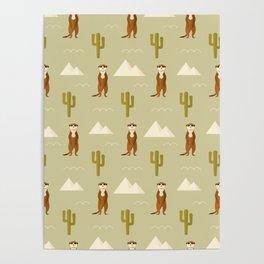 Desert full of meerkats Poster