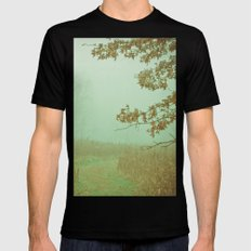 Autumn Day 23 Black MEDIUM Mens Fitted Tee