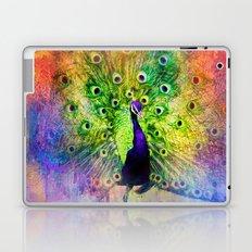 Jazzy Peacock Colorful Bird Art by Jai Johnson Laptop & iPad Skin