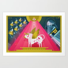 Elijah and the Prophets of Baal (by Dan Christofferson) Art Print